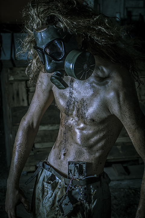 Enviralmental - The Mechanic - Post Apocalypse Gas mask enviromental grunge grime dirty high contrast hdr harsh