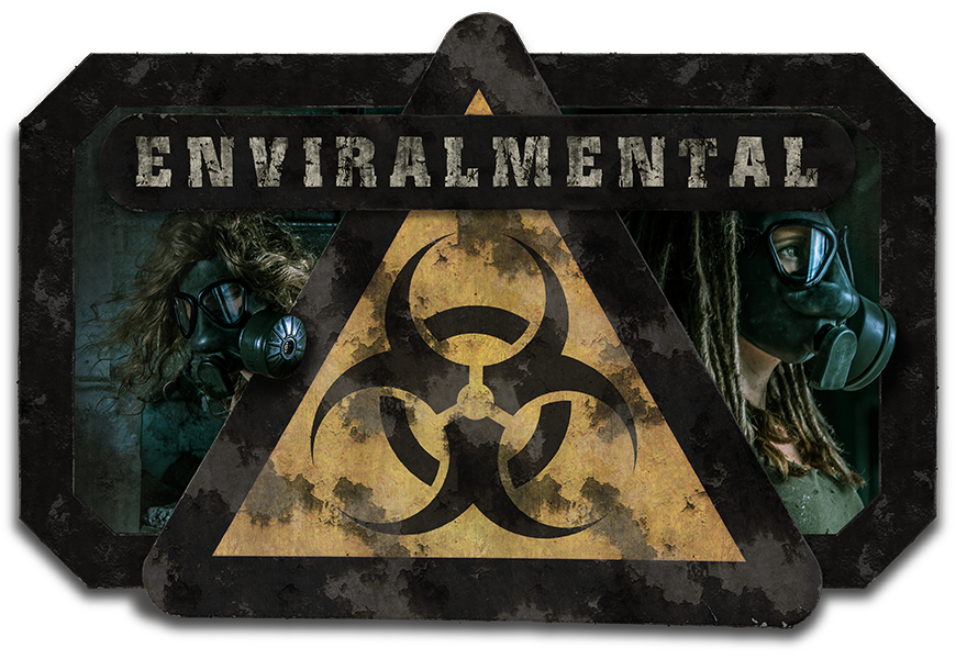 Enviralmental - Logo - Post Apocalypse Gas mask enviromental grunge grime dirty high contrast hdr harsh